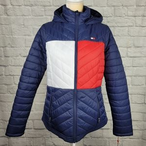 Tommy Hilfiger Sport Womens Puffer Jacket L NEW